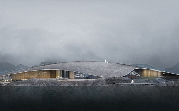 Dorte Mandrup's Arctic whale-shaped visitor centre